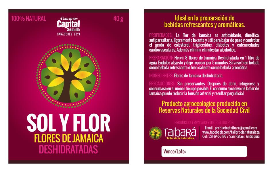 Etiquetas Sol y FlorTaibara